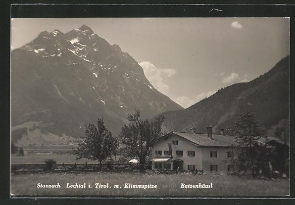 AK Stanzach in Tirol, Blick zum Gasthaus Batzenhäusl 0