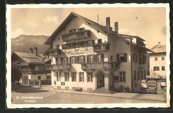 AK St. Johann i. Tirol, Partie am Postamt 0