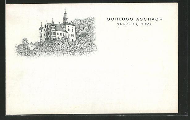 AK Volders in Tirol, Blick zum Schloss Aschach 0