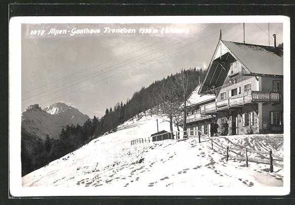 AK Fulpmes, Alpen-Gasthaus Froneben im Winter 0