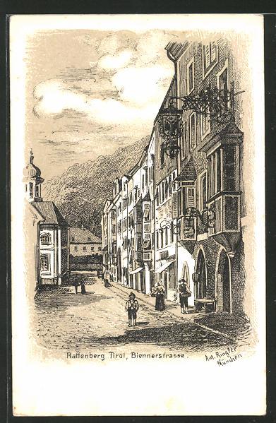 Künstler-AK Raffenberg in Tirol, Biennerstrasse 0
