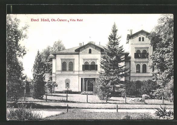 AK Bad Hall, Blick auf die Villa Rabl 0