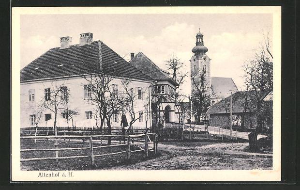 AK Altenhof, Ortspartie mit Kirche 0