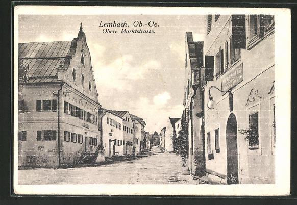 AK Lembach, Partie an der oberen Marktstrasse 0