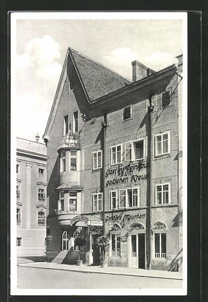 AK Wels, Gotthard Maurhart Rathausstüberl, Vorderansicht 0