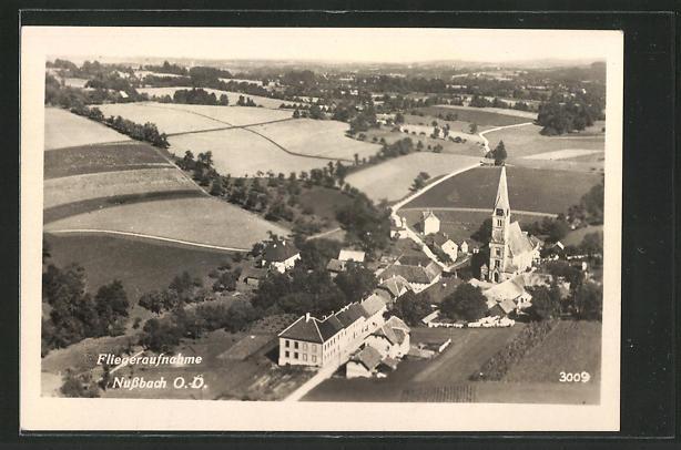 AK Nussbach, Dorf vom Flugzeug aus gesehen 0