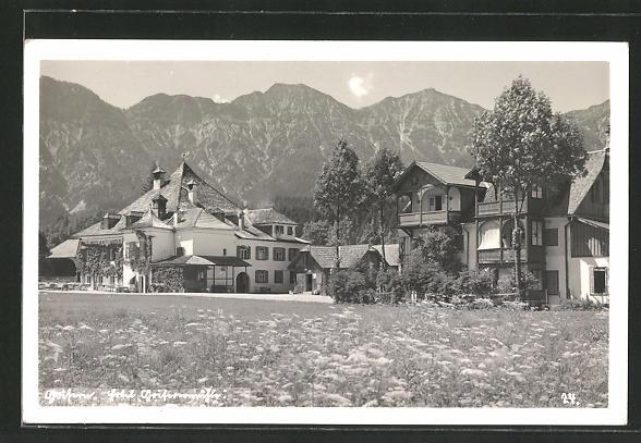 AK Goisern, Hotel-Cafe Goisernmühle im Frühling 0