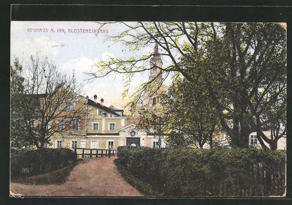 AK Neuhaus a. Inn, Partie am Klostereingang 0