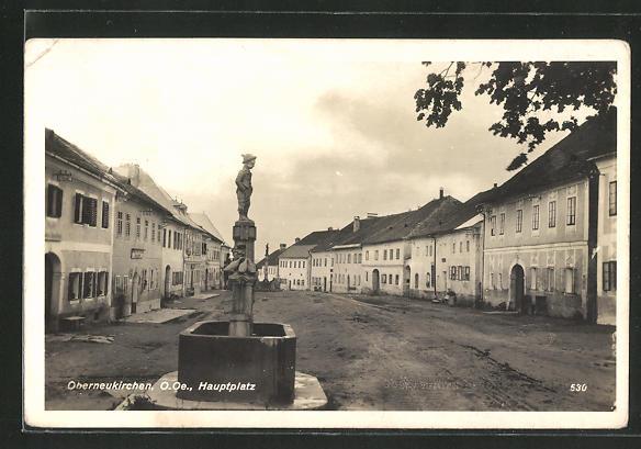 AK Oberneukirchen, Brunnen am Hauptplatz 0