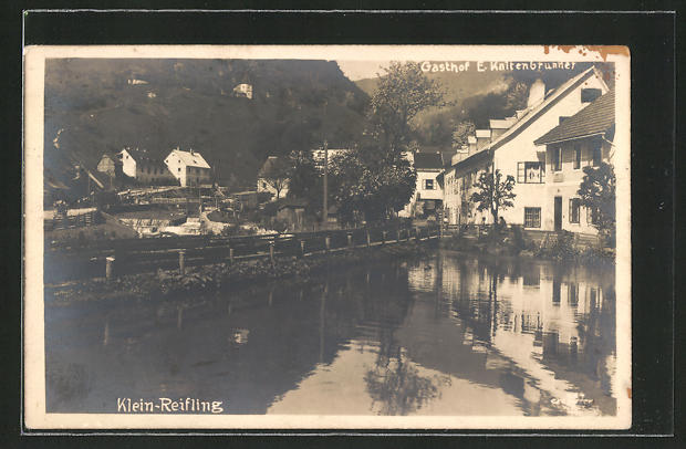 AK Klein-Reifling, Teilansicht mit Gasthaus Kaltenbrunner 0