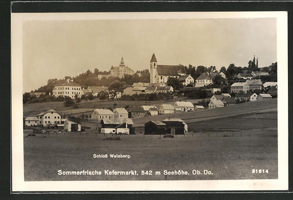 AK Kefermarkt, Totalansicht mit Schloss Weinberg 0