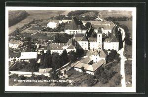 AK Baumgartenberg, Schloss Aussenstein mit Umgegend vom Flugzeug aus