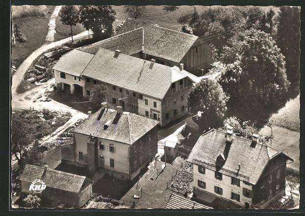 AK Julbach, Gasthaus & Pension Hinterschiffl aus der Vogelschau 0