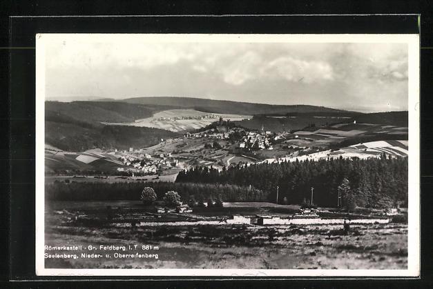 AK Landpoststempel Feldberg über Königstein / Taunus 1