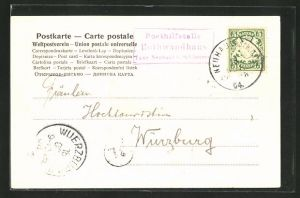AK Landpoststempel Posthilfstelle Rothwandhaus, Taxe Neuhaus bei Schliersee