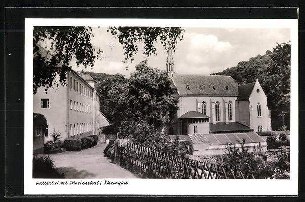 AK Landpoststempel Marienthal über Oestrich-Winkel 1