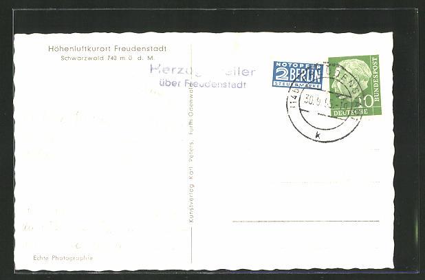 AK Landpoststempel Herzogsweiler über Freudenstadt 0