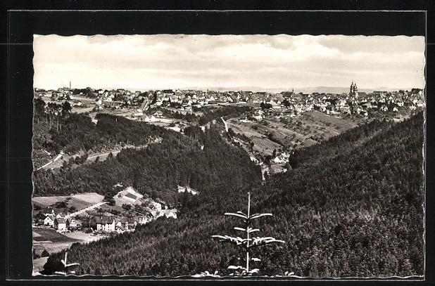 AK Landpoststempel Herzogsweiler über Freudenstadt 1