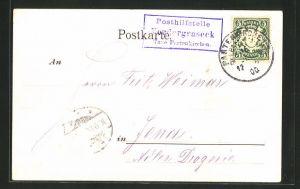 AK Landpoststempel Posthilfstelle Vordergraseck, Taxe Partenkirchen