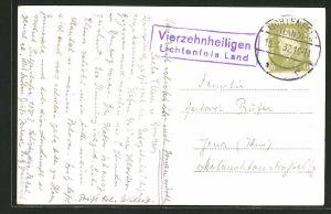 AK Landpoststempel Vierzehnheiligen, Lichtenfels Land