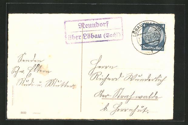 AK Landpoststempel Neundorf über Löbau (Sachs.) 0