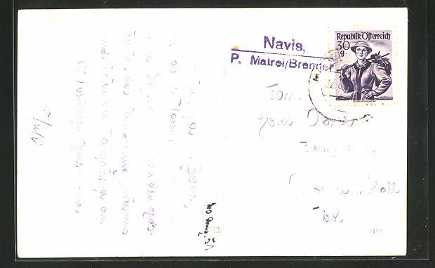 AK Landpoststempel Navis, P. Matrei / Brenner 0