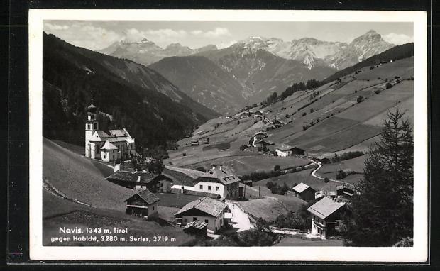 AK Landpoststempel Navis, P. Matrei / Brenner 1