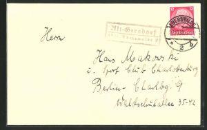 AK Briefumschlag mit Landpoststempel Alt-Gersdorf über Eberswalde 2
