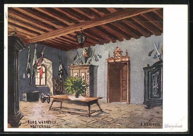 AK Landpoststempel Wernfels über Roth (b Nürnberg) 1