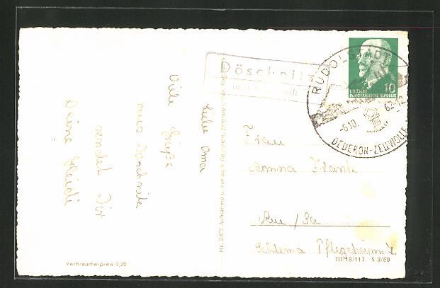 AK Landpoststempel Döschnitz über Rudolstadt 0