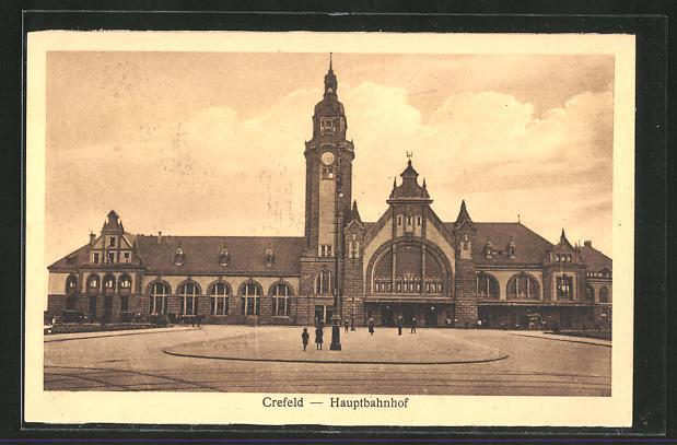 AK Krefeld, Blick auf den Hauptbahnhof 0