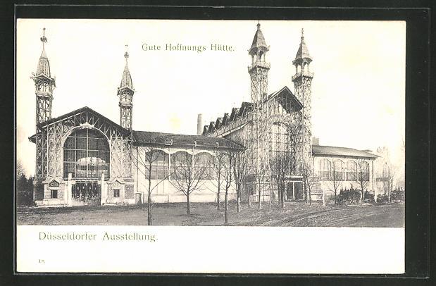 AK Düsseldorf, Ausstellung, Gute Hoffnungs Hütte 0