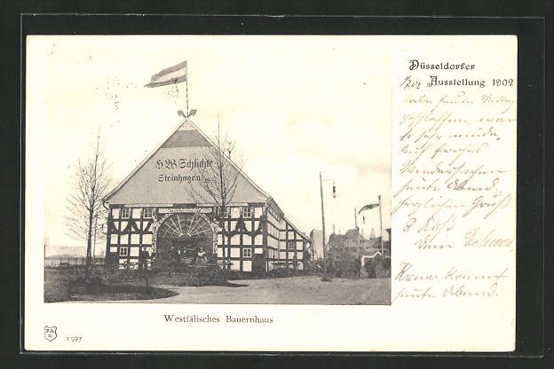 AK Düsseldorf, Ausstellung 1902, Westfälisches Bauernhaus 0