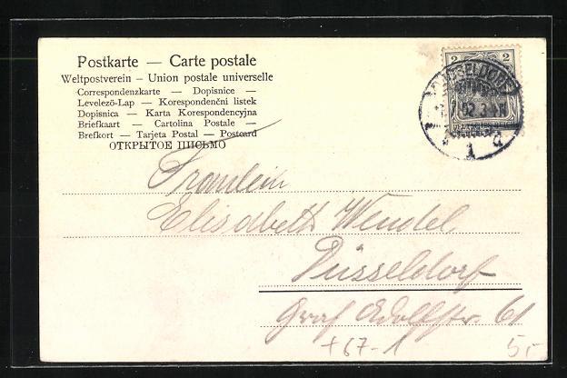 AK Düsseldorf, Ausstellung 1902, Westfälisches Bauernhaus 1