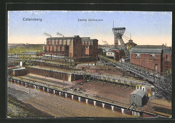AK Caternberg, Blick auf die Anlagen der Zeche Zollverein 0