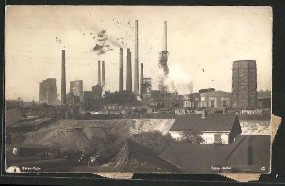 AK Essen-Ruhr, Anlagen der Kohlenzeche Gustav 0