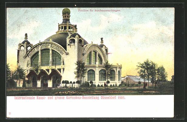 AK Düsseldorf, Pavillon für Sonderausstellungen, Internationale Kunst- & Grosse Gartenbau Ausstellung 1904 0