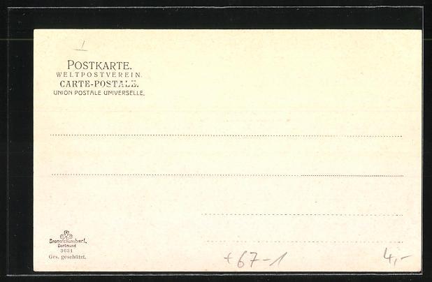 AK Düsseldorf, Deutscher Betonverein & Bochumer Gussstahlfabrikation, Industrie-, Gewerbe- & Kunst-Ausstellung 1902 1