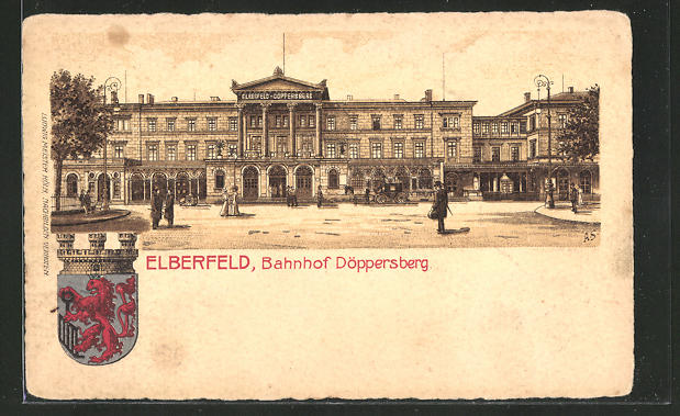 AK Elberfeld, Vorderansicht vom Bahnhof Döppersberg 0