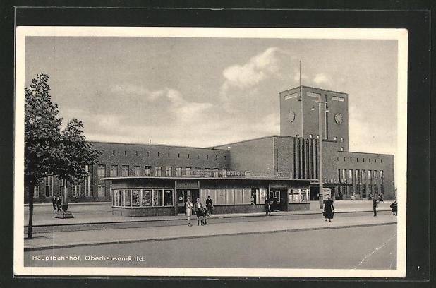 AK Oberhausen, Hauptbahnhof mit Wartehalle 0