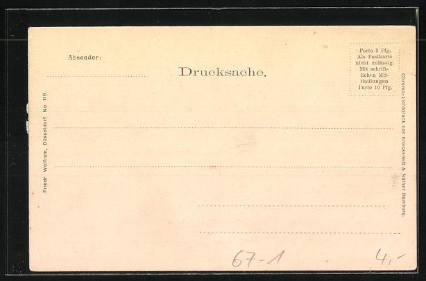 AK Düsseldorf, Panorama der Gewerbe- und Industrie-Ausstellung 1902 1