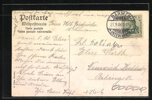 AK Balkhausen, Zerstörtes Haus mit Scheune, Unwetter am 14. Aug. 1906 1