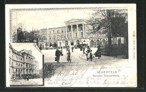 AK Elberfeld, Gymnasium & Bahnhof Döppersberg
