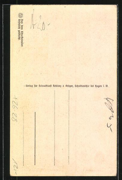 Steindruck-AK Neuenkirchen / W., Ortsansicht 1