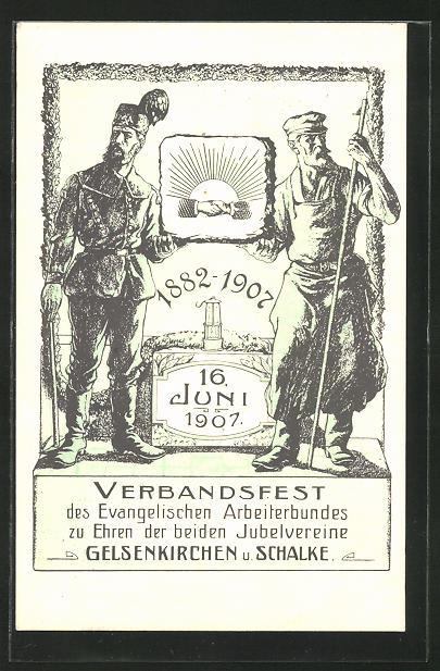 AK Gelsenkirchen, Verbandsfest 1907 0