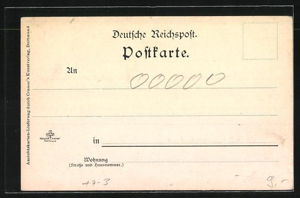 AK Herne, Hafen und Kohle-Zeche Friedrich der Grosse 1