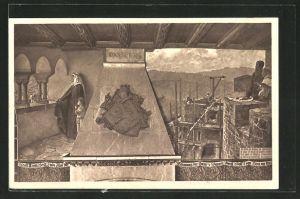 AK Solingen, Adolf III. von Burg, Schlossbau-Verein zu Burg, Schlossmalerei