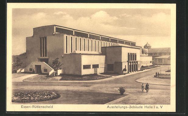 AK Essen-Rüttenscheid, Am Ausstellungs-Gebäude Halle i. u. V. 0