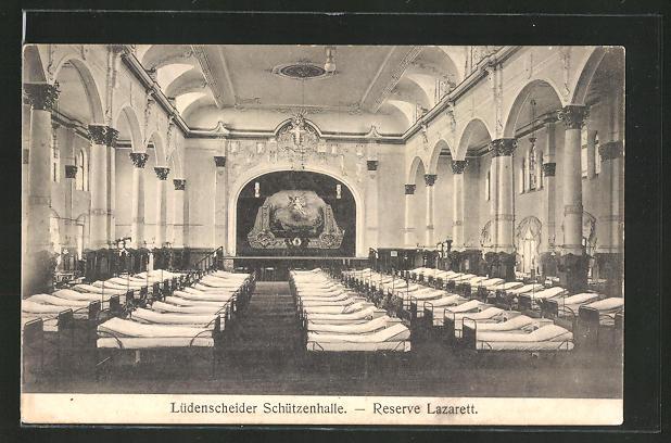 AK Lüdenscheid, Gasthaus Schützenhalle, jetzt Reserve-Lazarett 0