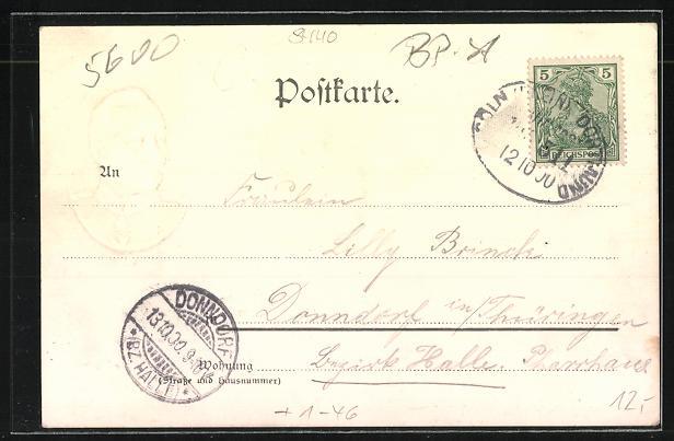 AK Elberfeld, Rathaus, Schwebebhanhof, Portrait von Kaiser Wilhelm II. 1